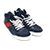 ボッテガヴェネタ メンズ 靴 イントレチャート カーフスキン ハイカットスニーカー ネイビー 画像