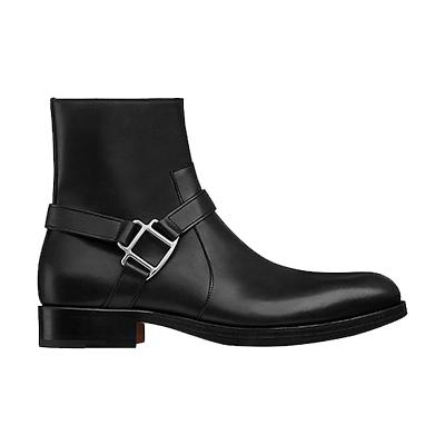 エルメス メンズ 靴 Spurs カーフスキン ショートブーツ 画像