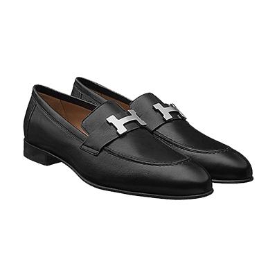 エルメス メンズ 靴 Hロゴ モカシン ローファー 画像