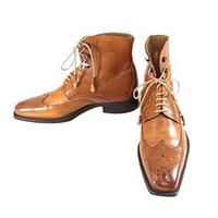 ステファノブランキーニ ウイングチップ ブーツ ブラウン系 画像