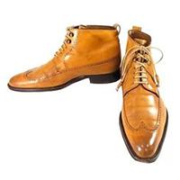 ステファノブランキーニ ウイングチップ ブーツ イエロー系 画像
